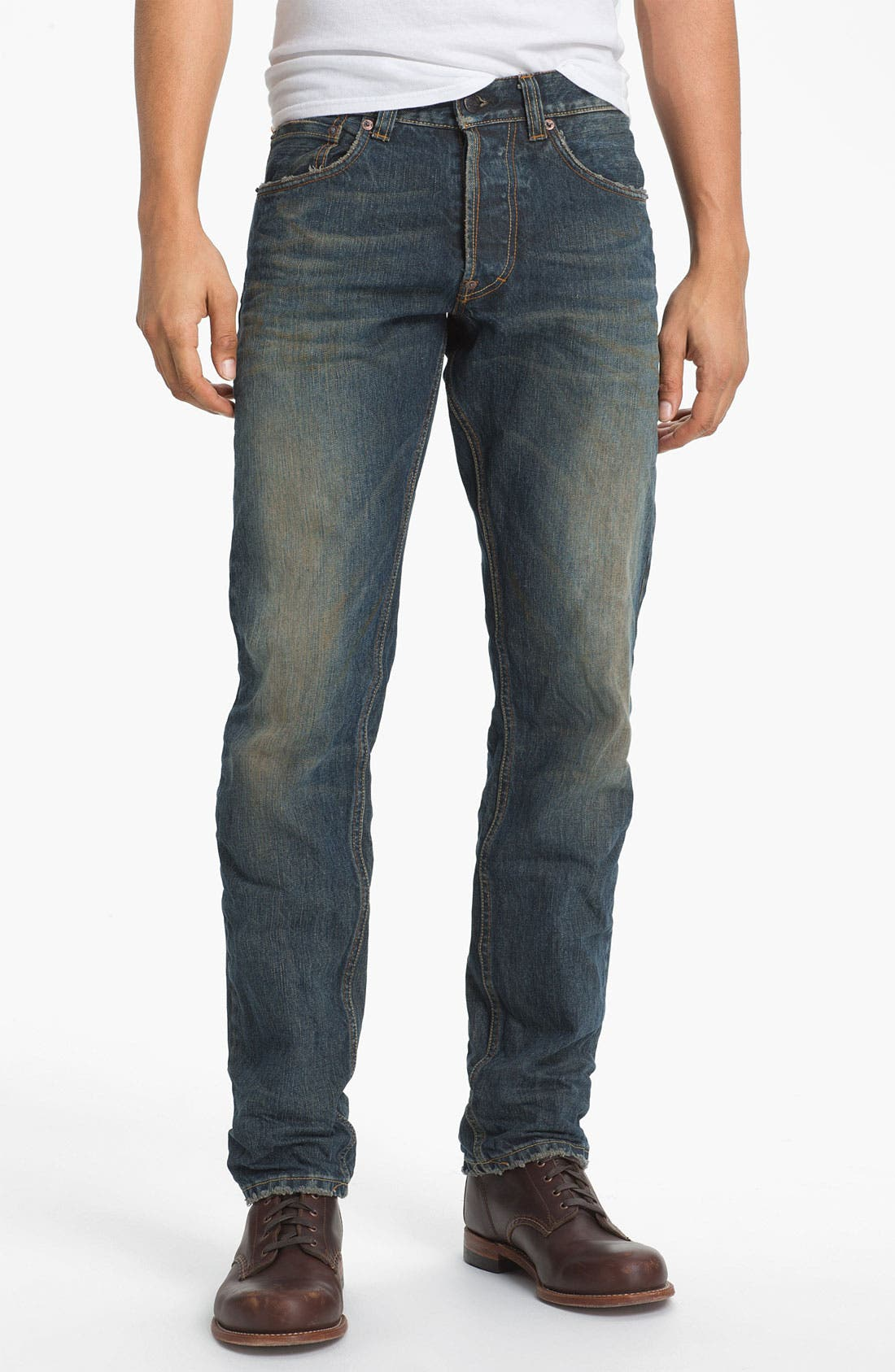 Alternate Image 2  - Gilded Age 'Baxten' Slim Straight Leg Jeans (Super Vintage)