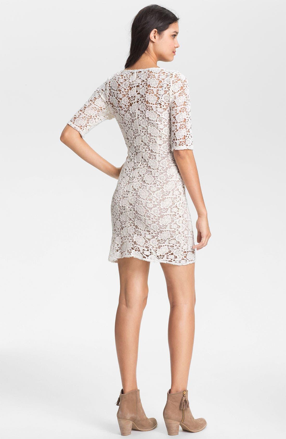 Alternate Image 2  - Lily Aldridge for Velvet by Graham & Spencer Crochet Lace Dress
