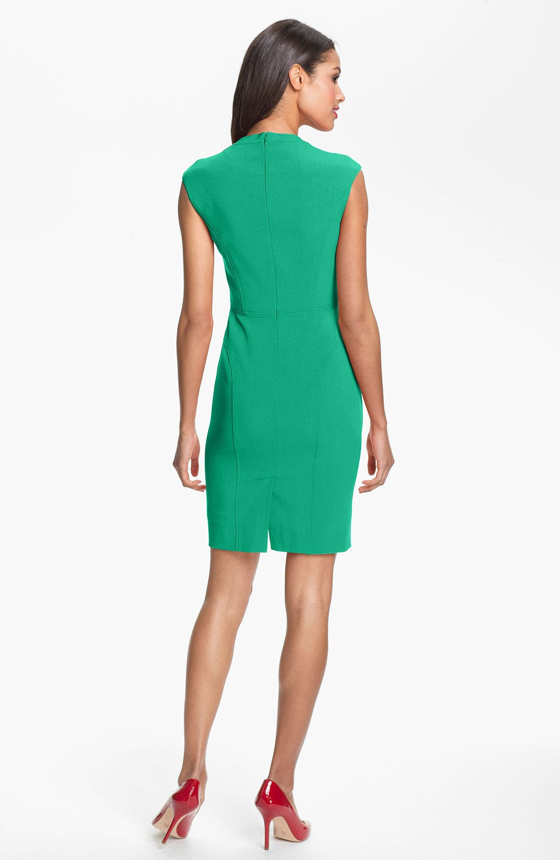 Alternate Image 2  - Adrianna Papell Seamed Crepe Sheath Dress