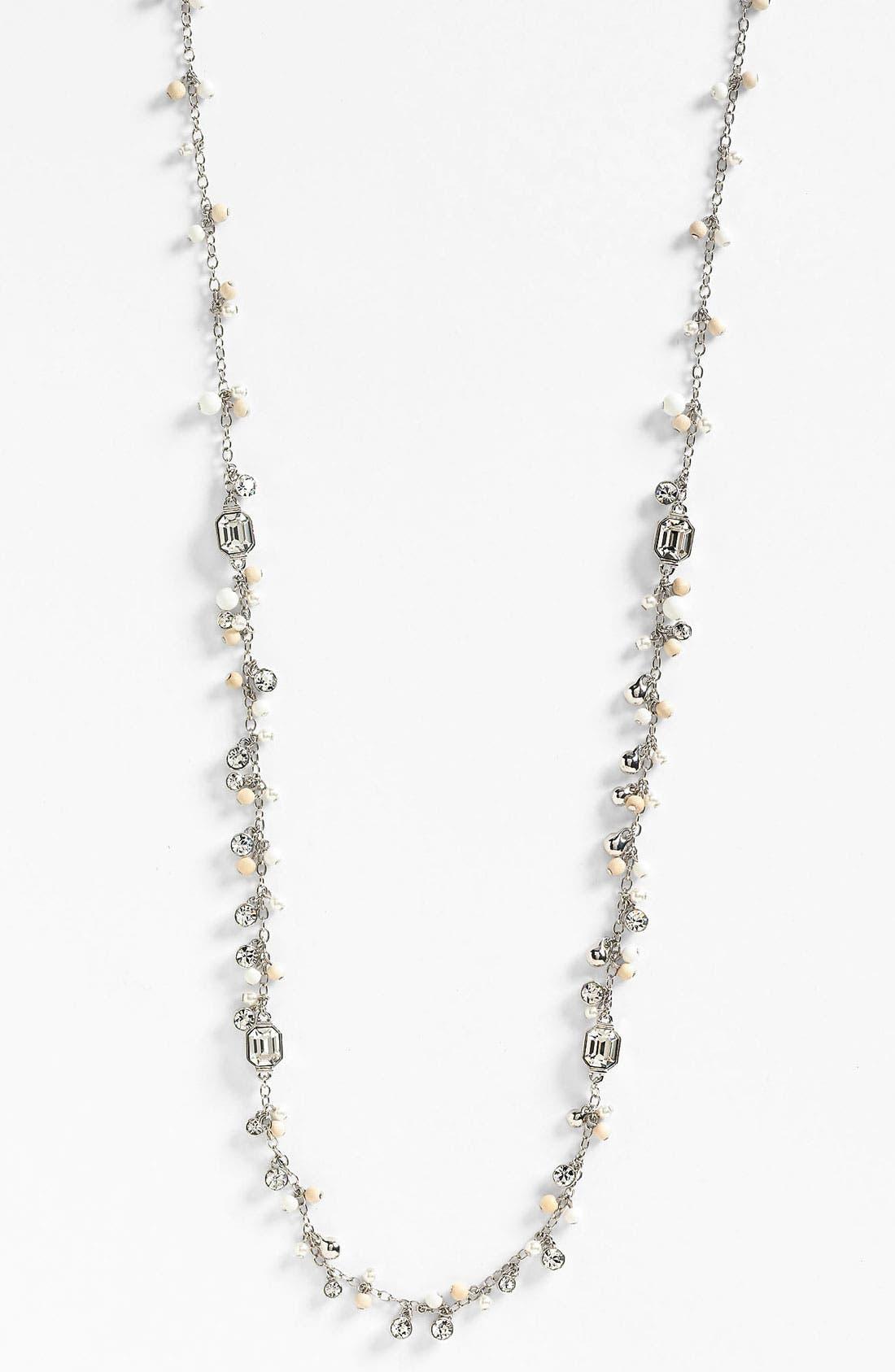 Main Image - Givenchy 'Lark' Crystal & Bead Long Necklace