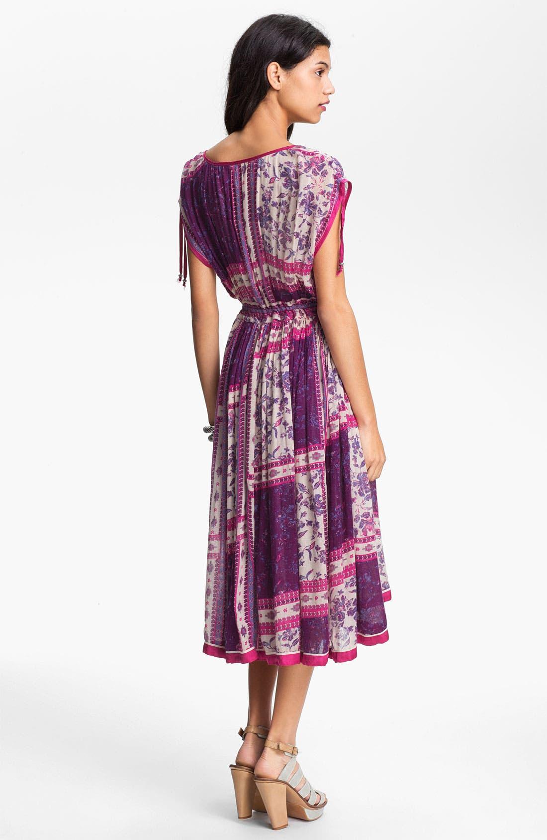 Alternate Image 2  - Free People 'Rose Garden' Print Peasant Dress