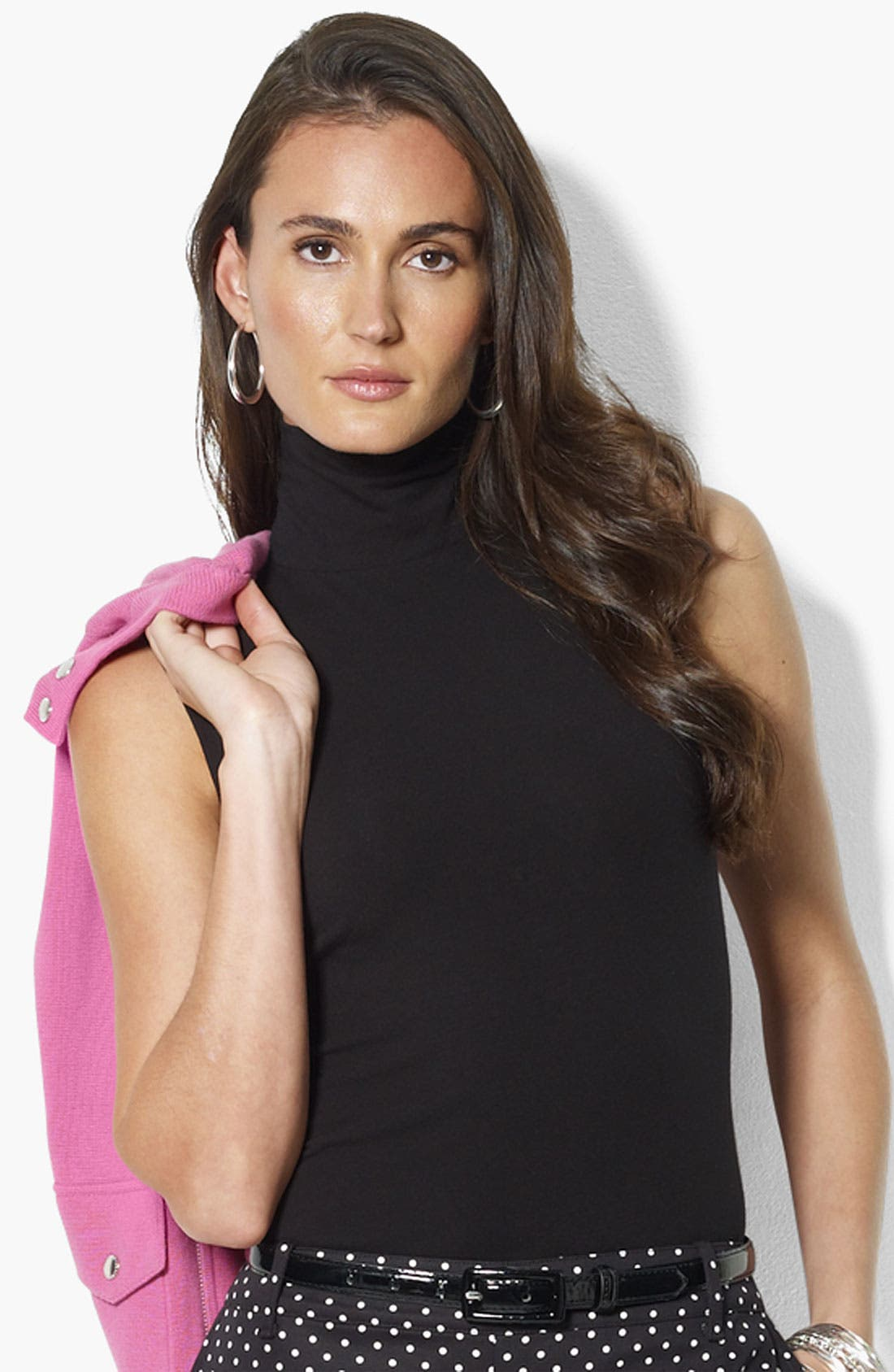 Main Image - Lauren Ralph Lauren Mock Neck Sleeveless Top