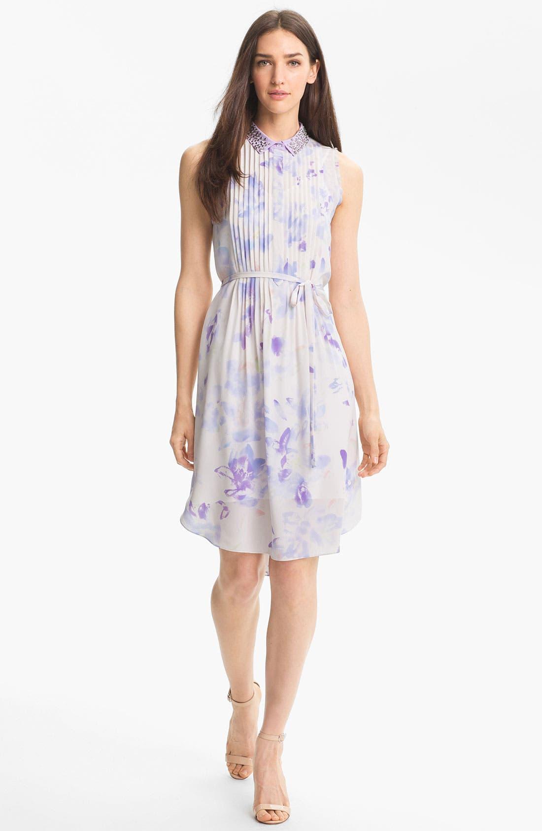 Alternate Image 1 Selected - Rebecca Taylor 'Hawaii' Silk Shirtdress