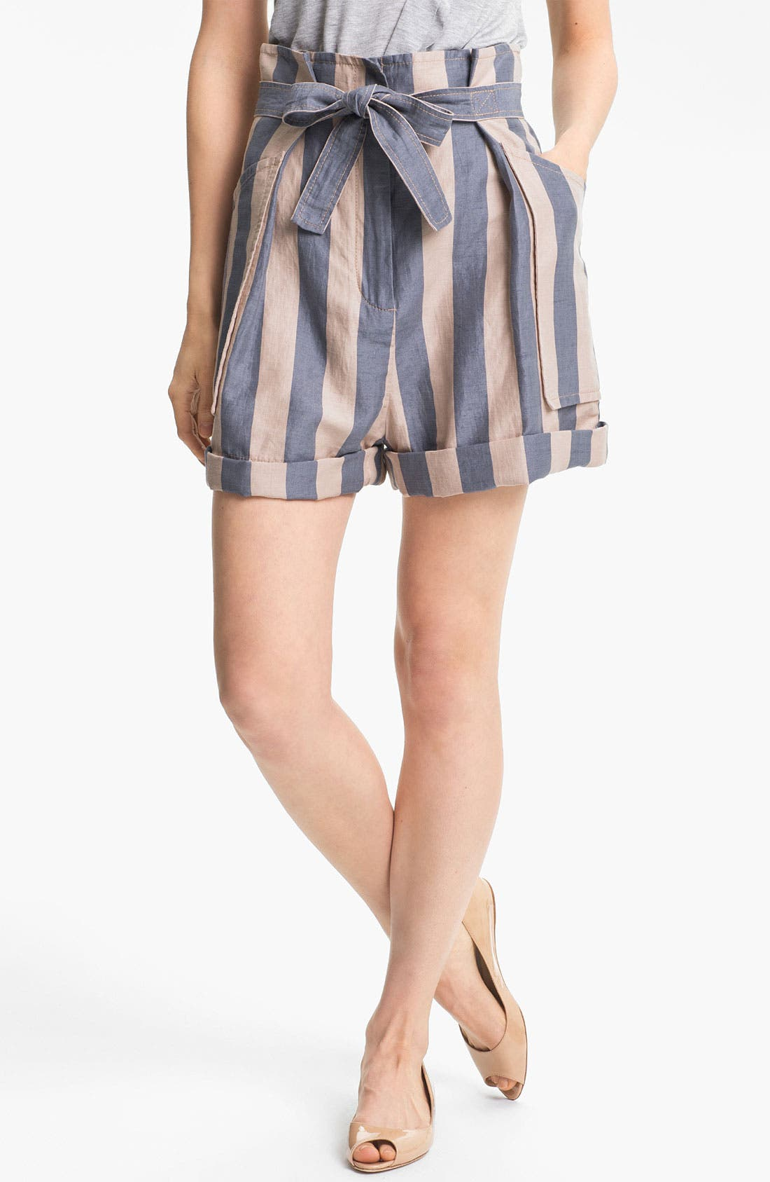 Alternate Image 1 Selected - MARC BY MARC JACOBS 'Debbie' Stripe Cuffed Shorts