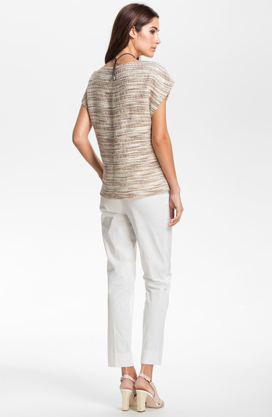 Alternate Image 5  - Lafayette 148 New York 'Eartha - Cordial Reed Cloth' Top