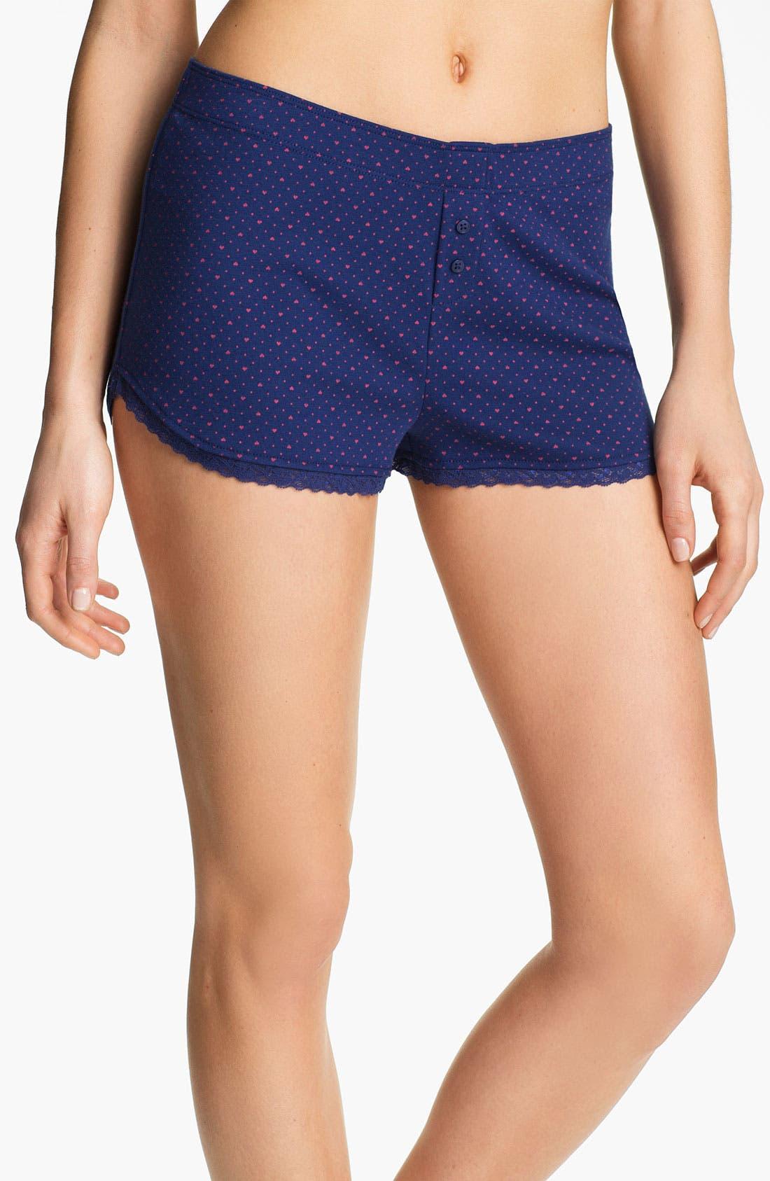 Main Image - Jane & Bleecker New York Rib Knit Boxer Shorts