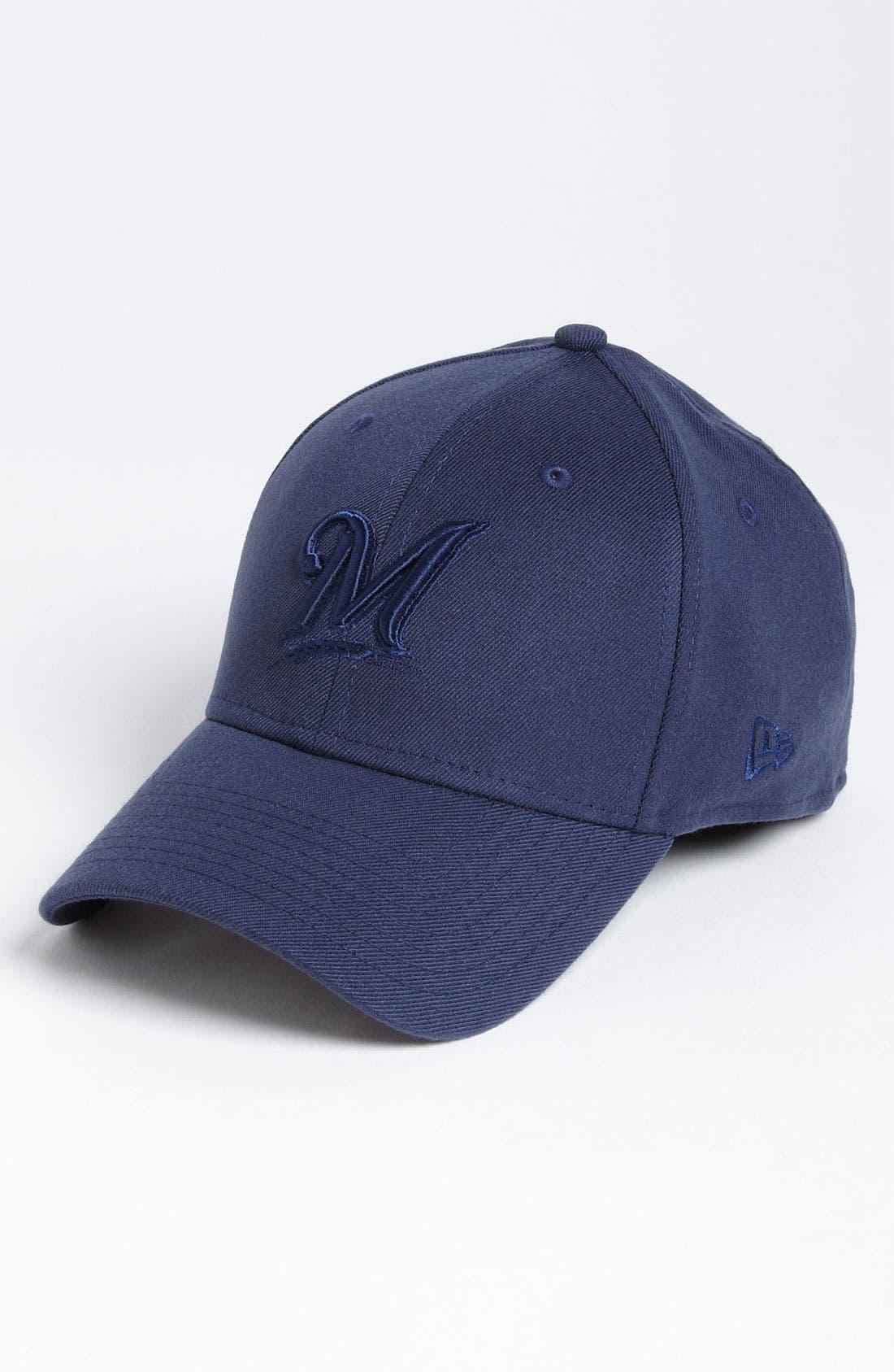 Main Image - New Era Cap 'Tonal Classic - Milwaukee Brewers' Fitted Baseball Cap