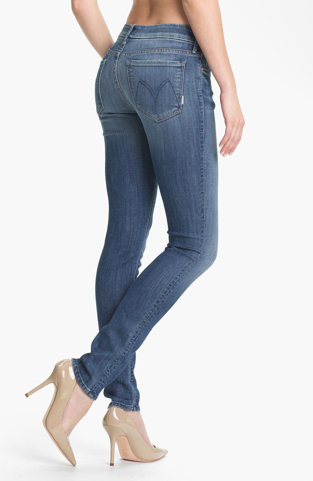 Alternate Image 2  - MOTHER 'The Looker' Skinny Stretch Jeans (Medium Kitty)