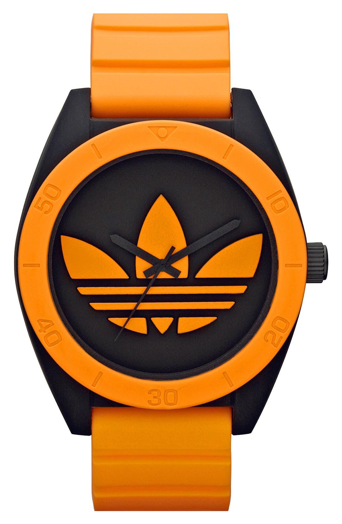 Main Image - adidas Originals 'Santiago XL' Neon Accent Watch, 50mm