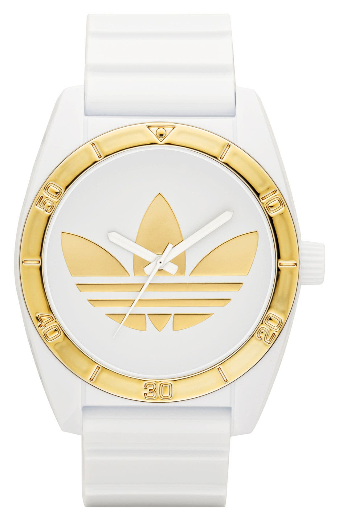 Alternate Image 1 Selected - adidas Originals 'Santiago' Metallic Accent Watch, 42mm