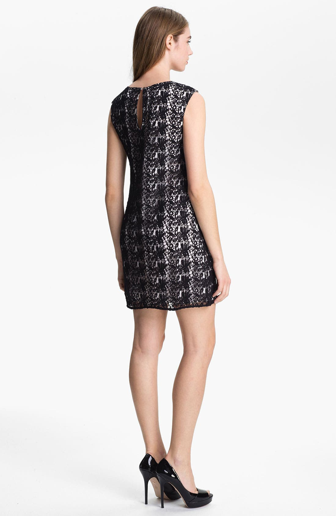 Alternate Image 2  - Vince Camuto Paisley Lace Shift Dress
