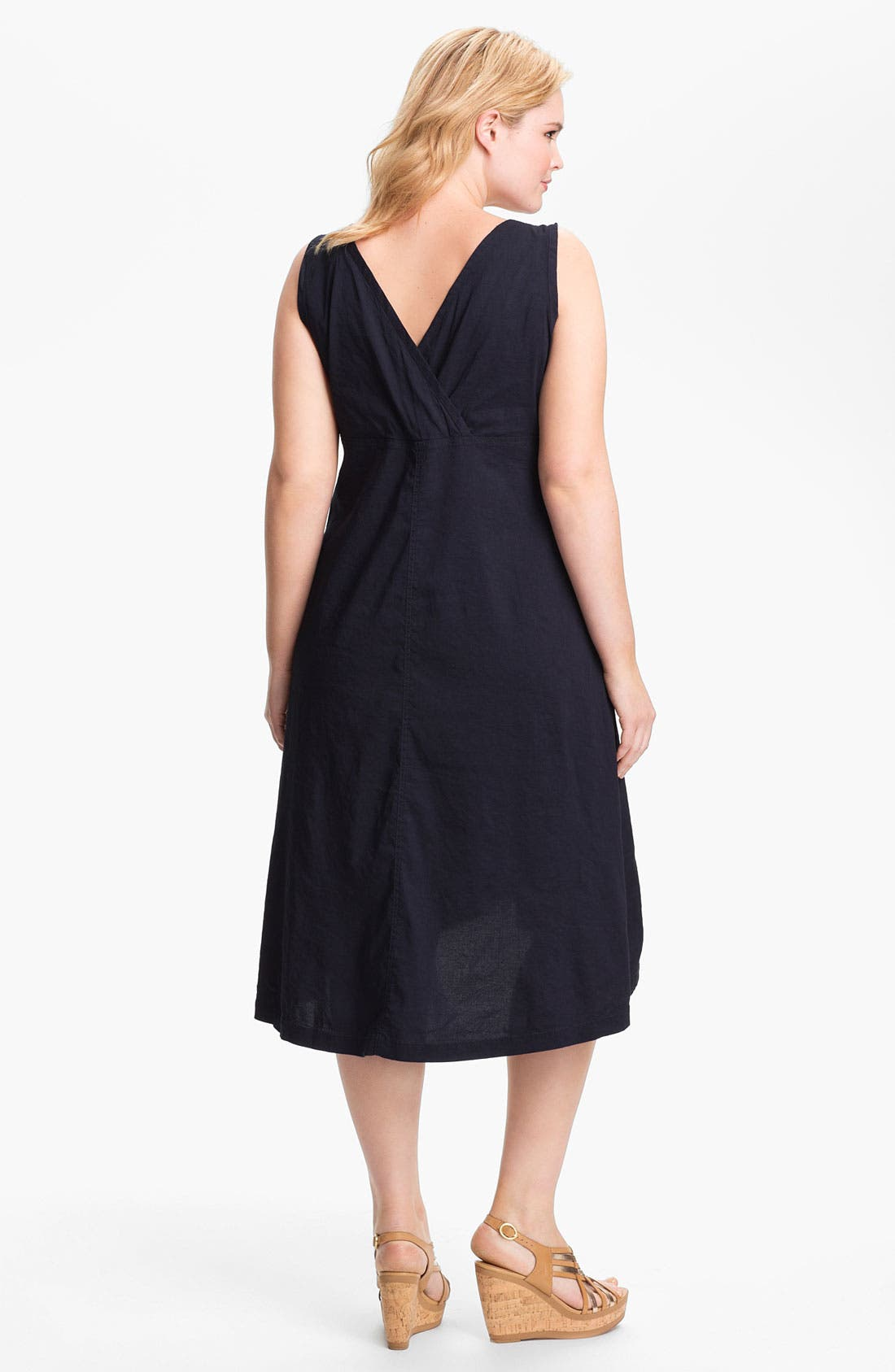 Alternate Image 2  - Eileen Fisher Midi A-Line Dress (Plus Size)