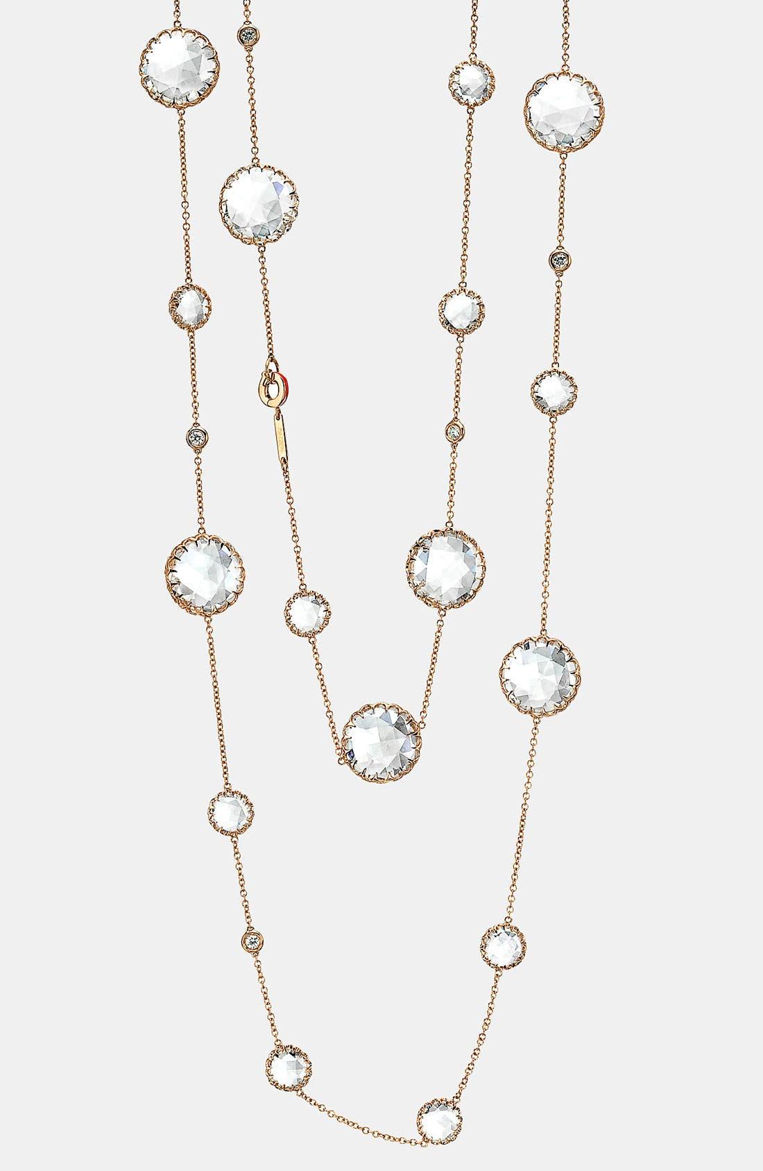Alternate Image 1 Selected - Ivanka Trump Long Diamond & Rock Crystal Chain Necklace