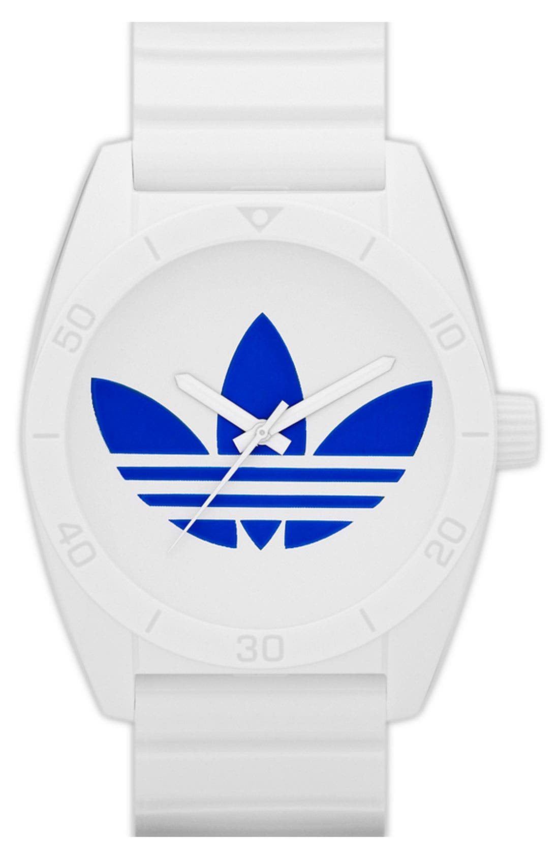Main Image - adidas Originals 'Santiago' Polyurethane Strap Watch, 42mm