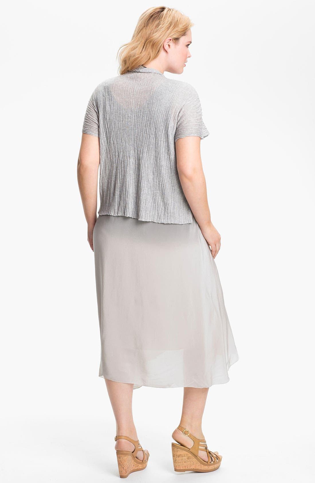 Alternate Image 5  - Eileen Fisher Textured Crop Cardigan (Plus)