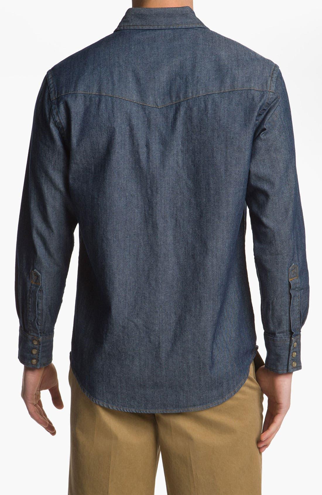 Alternate Image 2  - Pendleton Fitted Denim Shirt