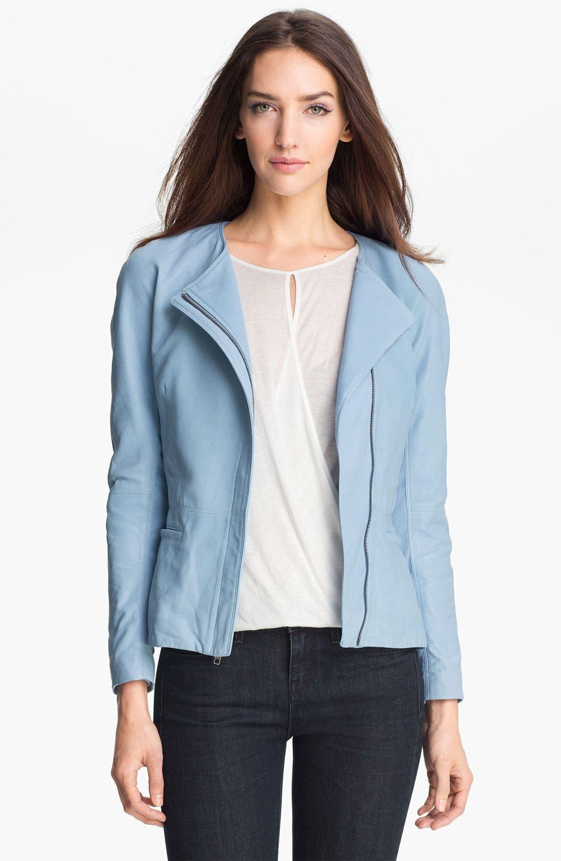 Main Image - Theory 'Enora' Leather Jacket
