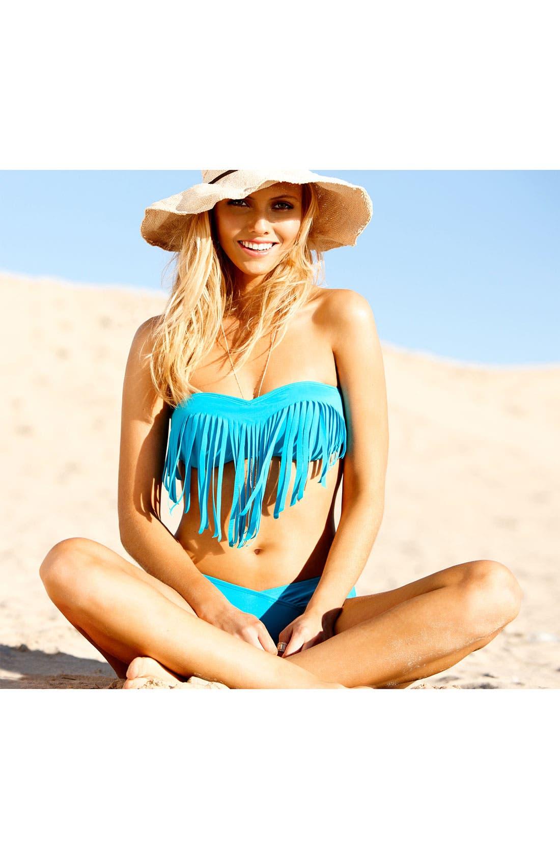 Main Image - Roxy Fringe Bikini Top & Bottoms