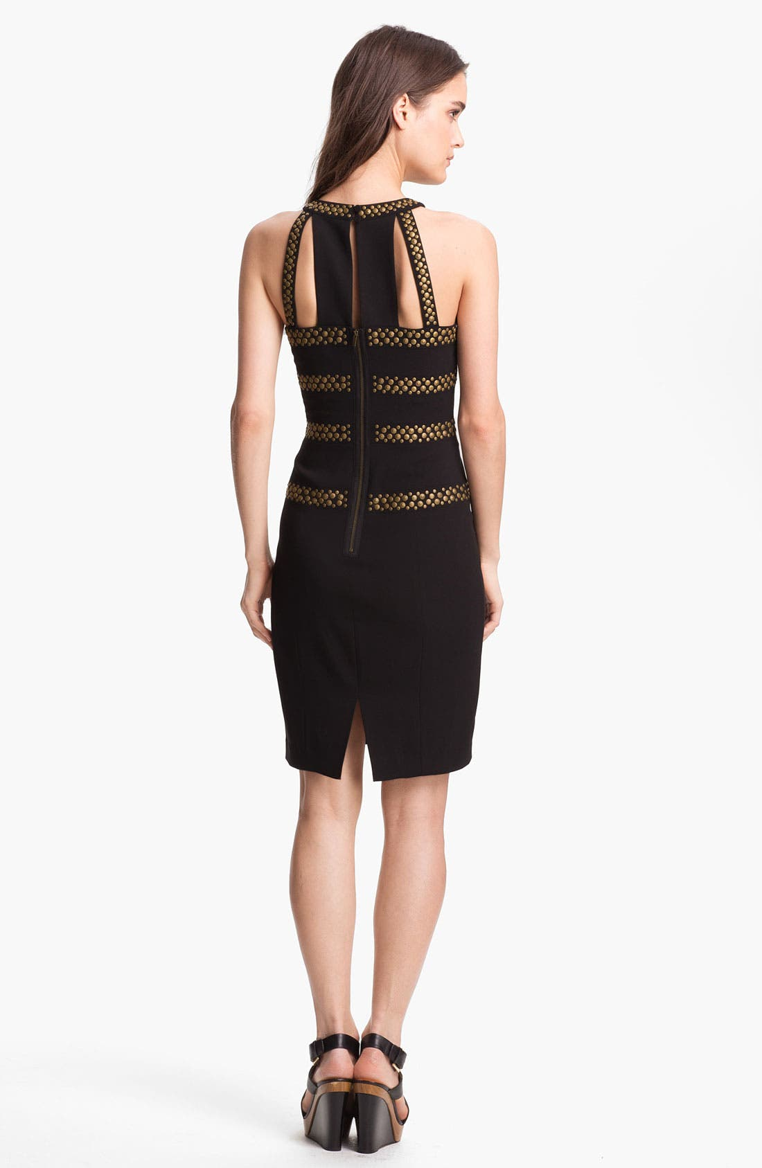 Alternate Image 2  - BCBGMAXAZRIA Studded Sheath Dress