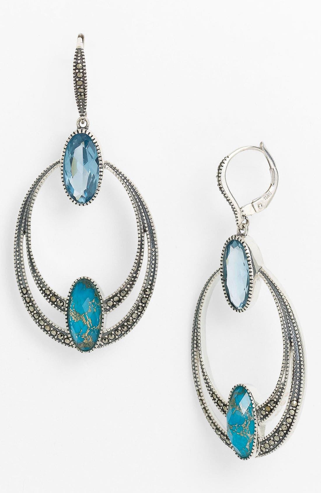 Main Image - Judith Jack Frontal Hoop Earrings