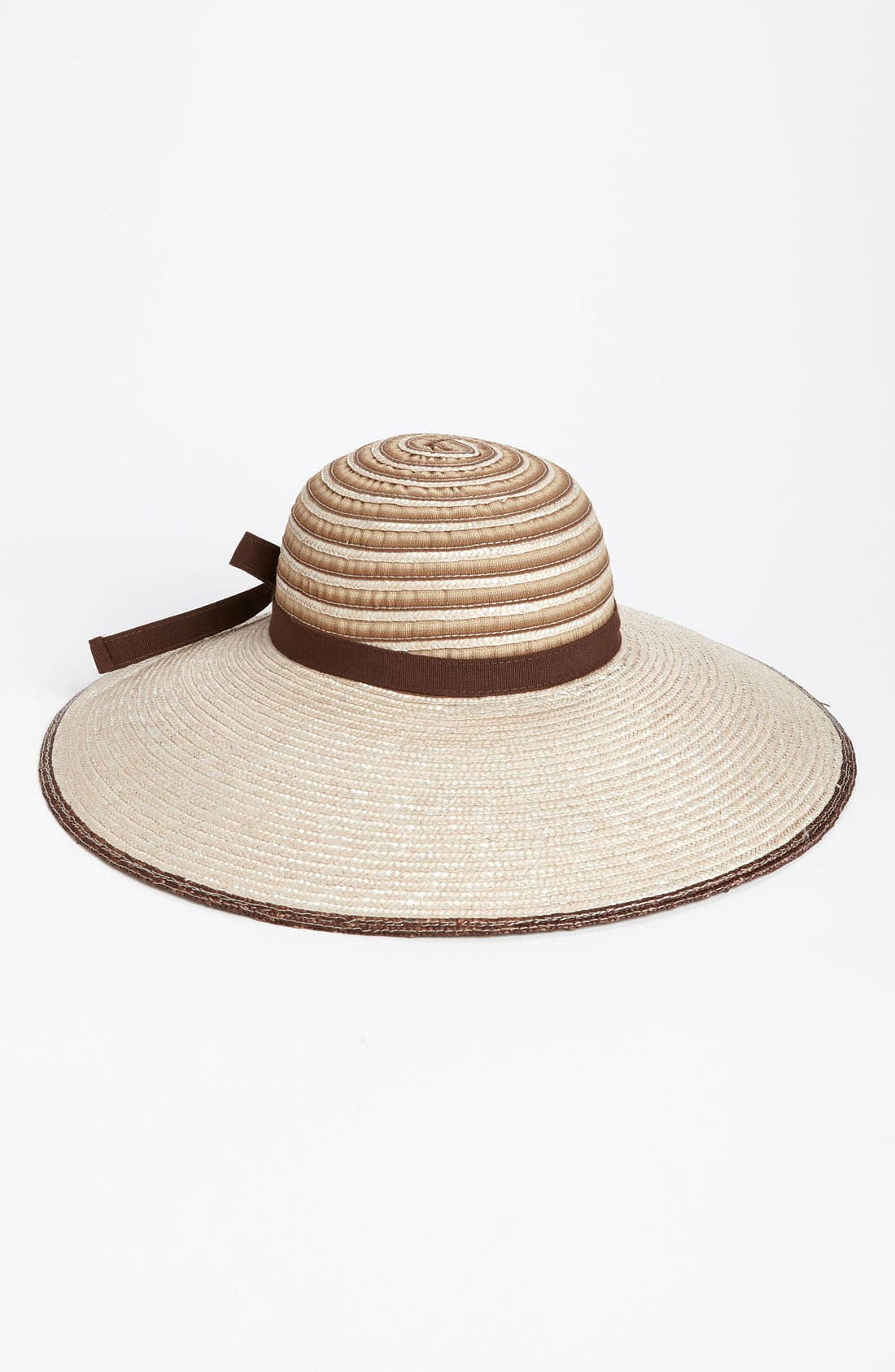 Alternate Image 1 Selected - Nordstrom Dégradé Ribbon Sun Hat