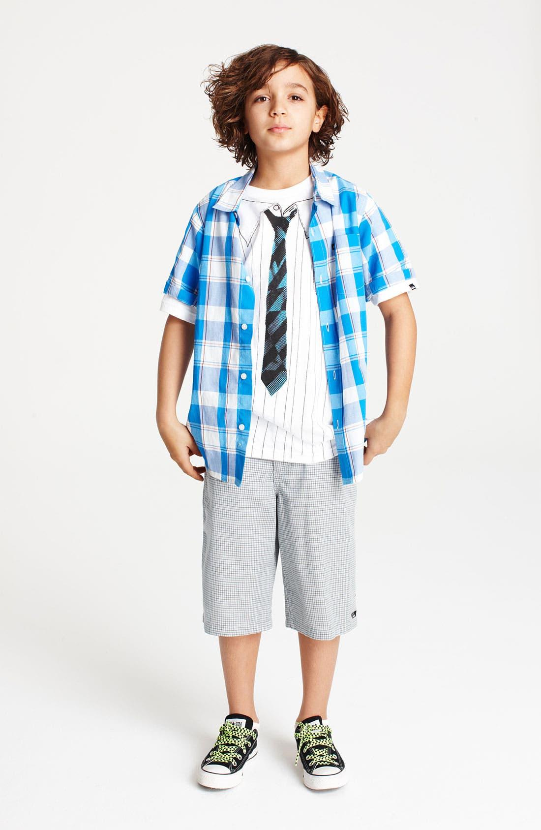 Alternate Image 1 Selected - Quiksilver Woven Shirt & Chambray Shorts (Big Boys)