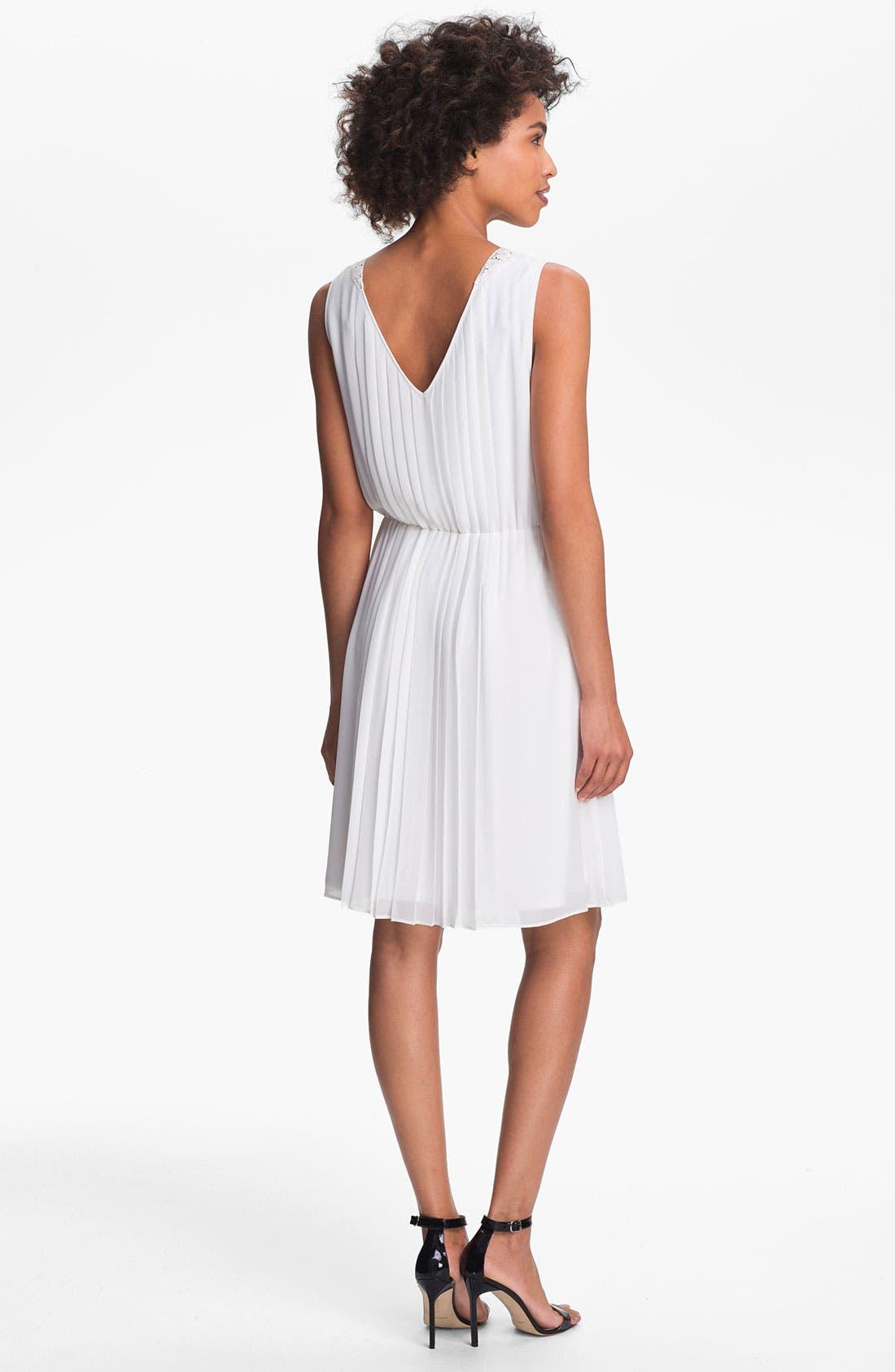 Alternate Image 2  - Jessica Simpson 'Cabaret' Pleated Chiffon Dress