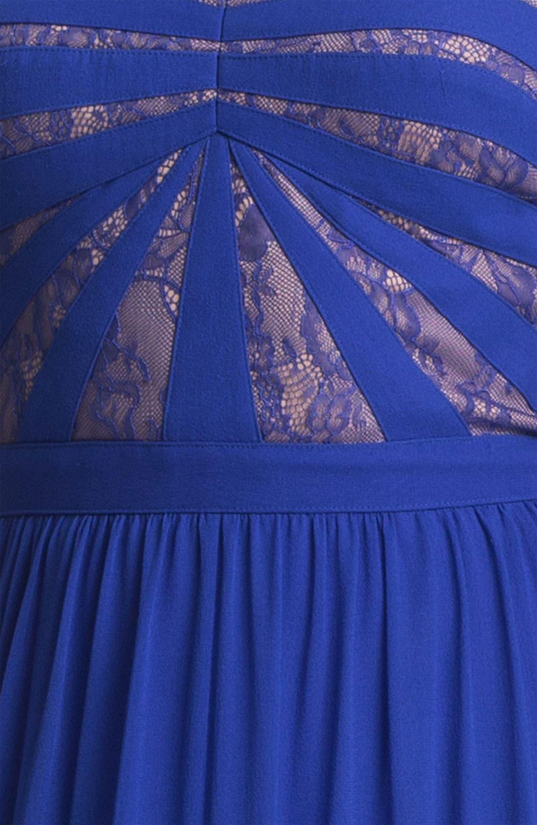 Alternate Image 3  - Aidan by Aidan Mattox Strapless Lace & Chiffon Dress