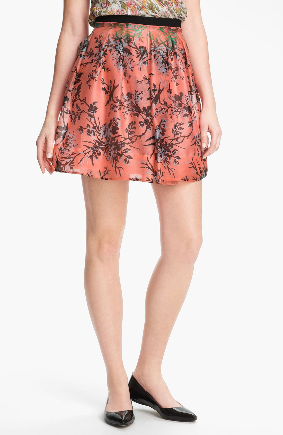 Alternate Image 1 Selected - Nanette Lepore 'Digital' Silk Skirt