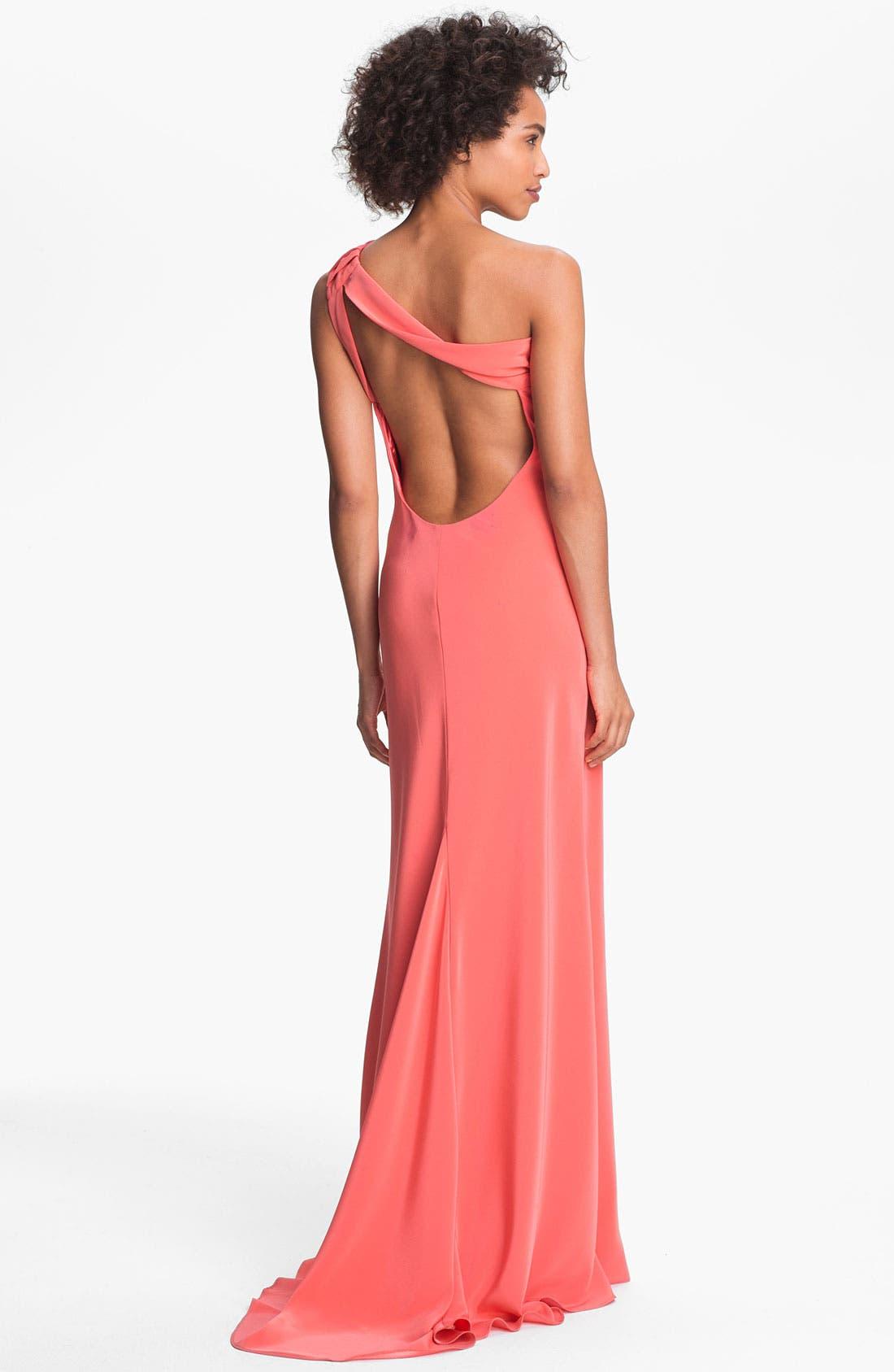Alternate Image 2  - A.B.S. by Allen Schwartz One Shoulder Gown