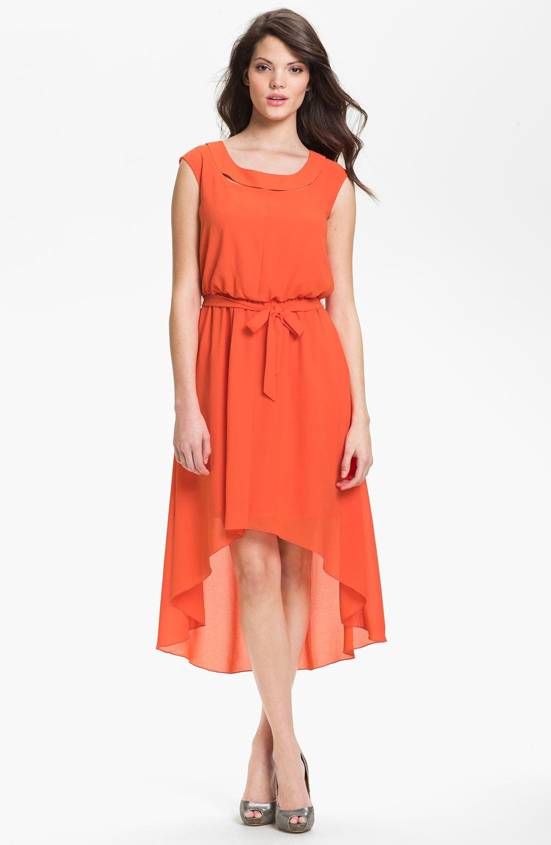 Alternate Image 1 Selected - Jessica Simpson Blouson High/Low Crepe Dress