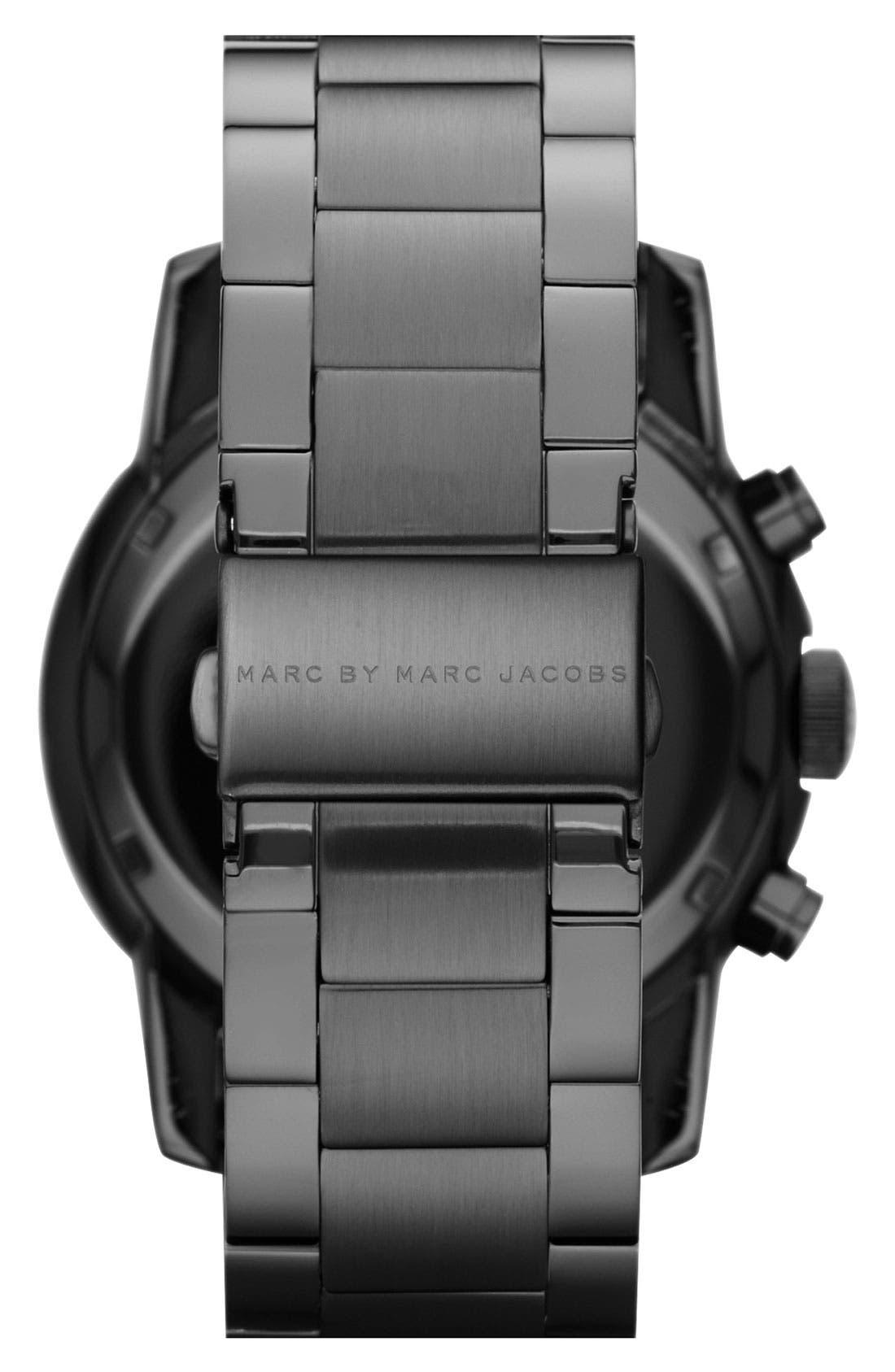 Alternate Image 3  - MARC BY MARC JACOBS 'Larry' Chronograph Bracelet Watch, 46mm