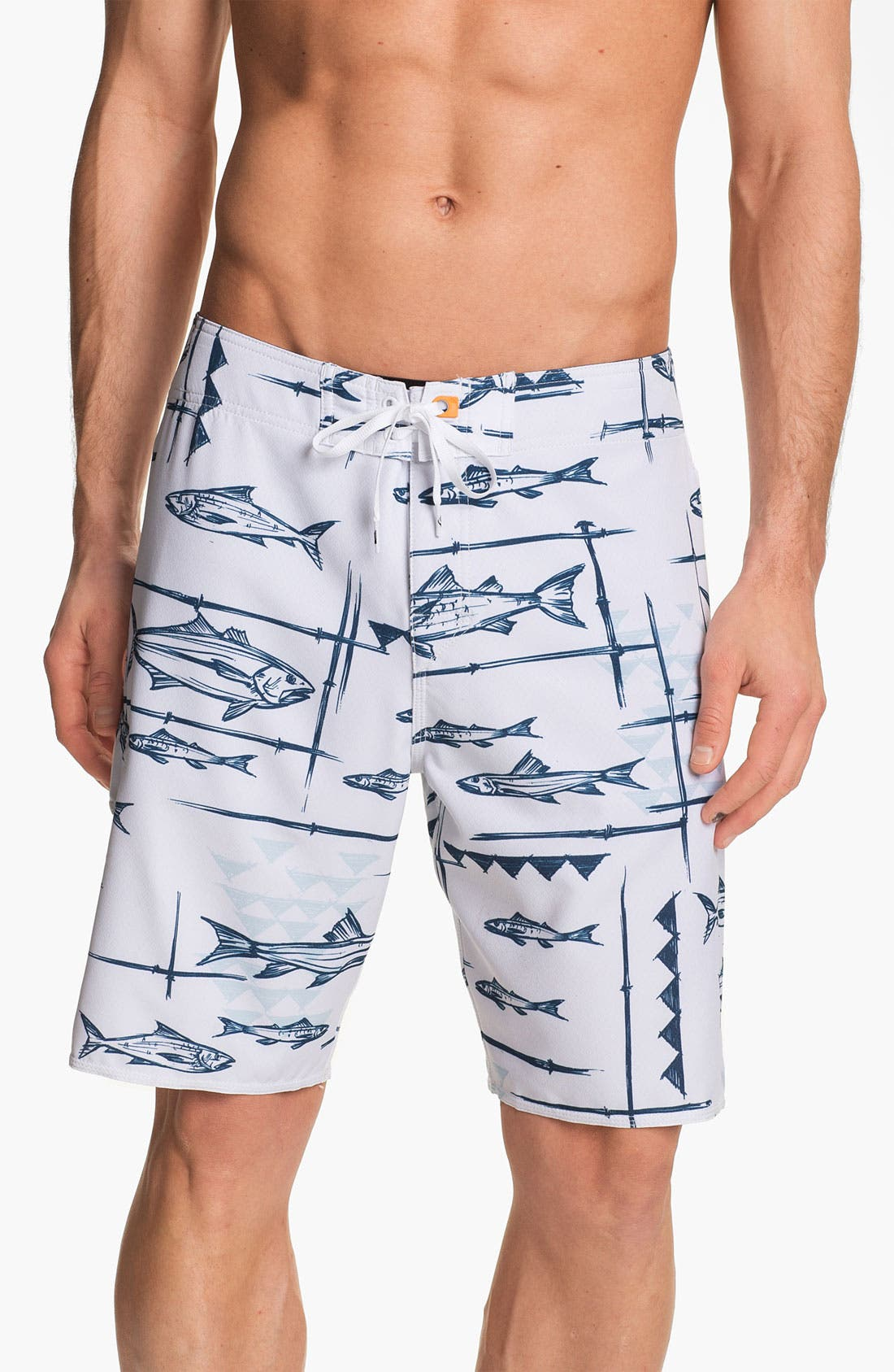 Alternate Image 1 Selected - Quiksilver Waterman Collection 'Keep It Reel' Board Shorts