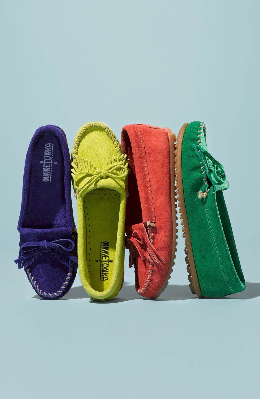 Alternate Image 2  - Minnetonka 'Kilty' Suede Moccasin (Nordstrom Exclusive Color)