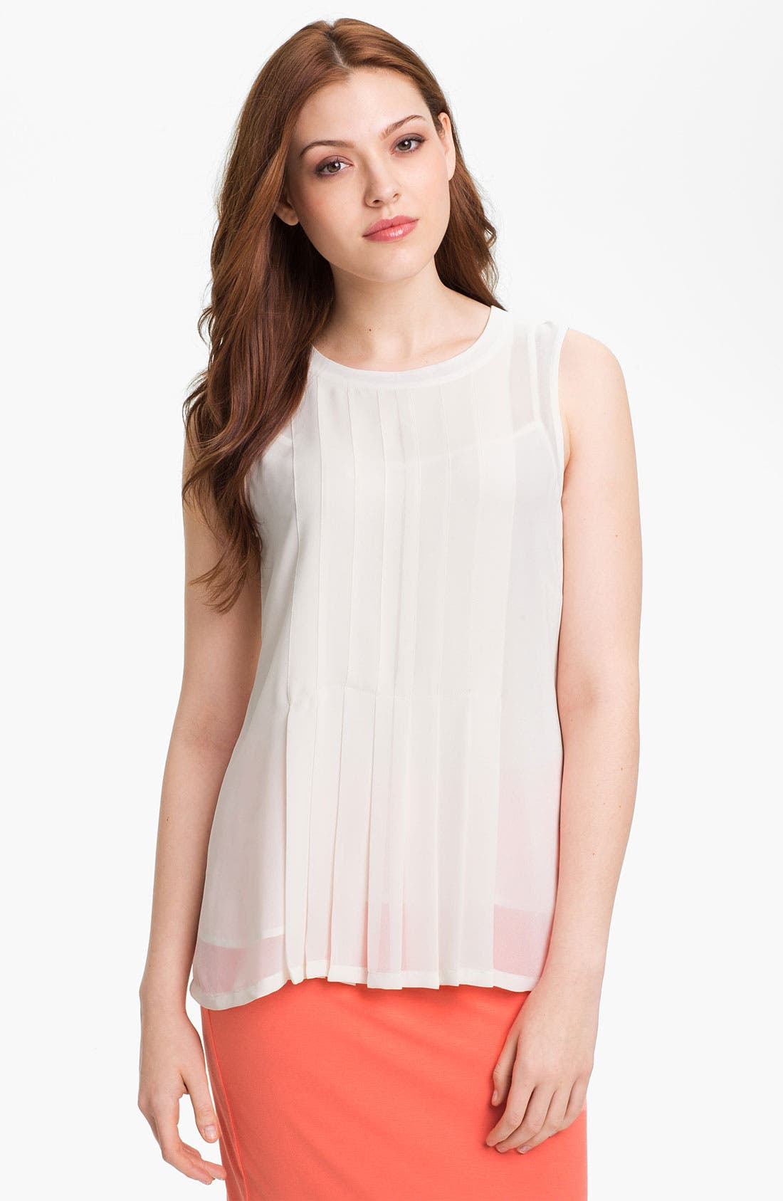 Alternate Image 1 Selected - Vince Camuto Pleated Blouse