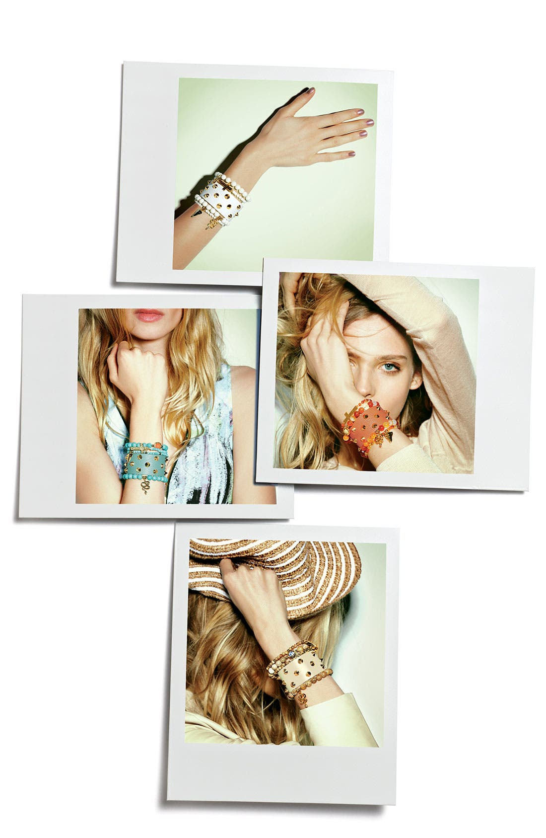 Alternate Image 2  - Cara Studded Leather Bracelet