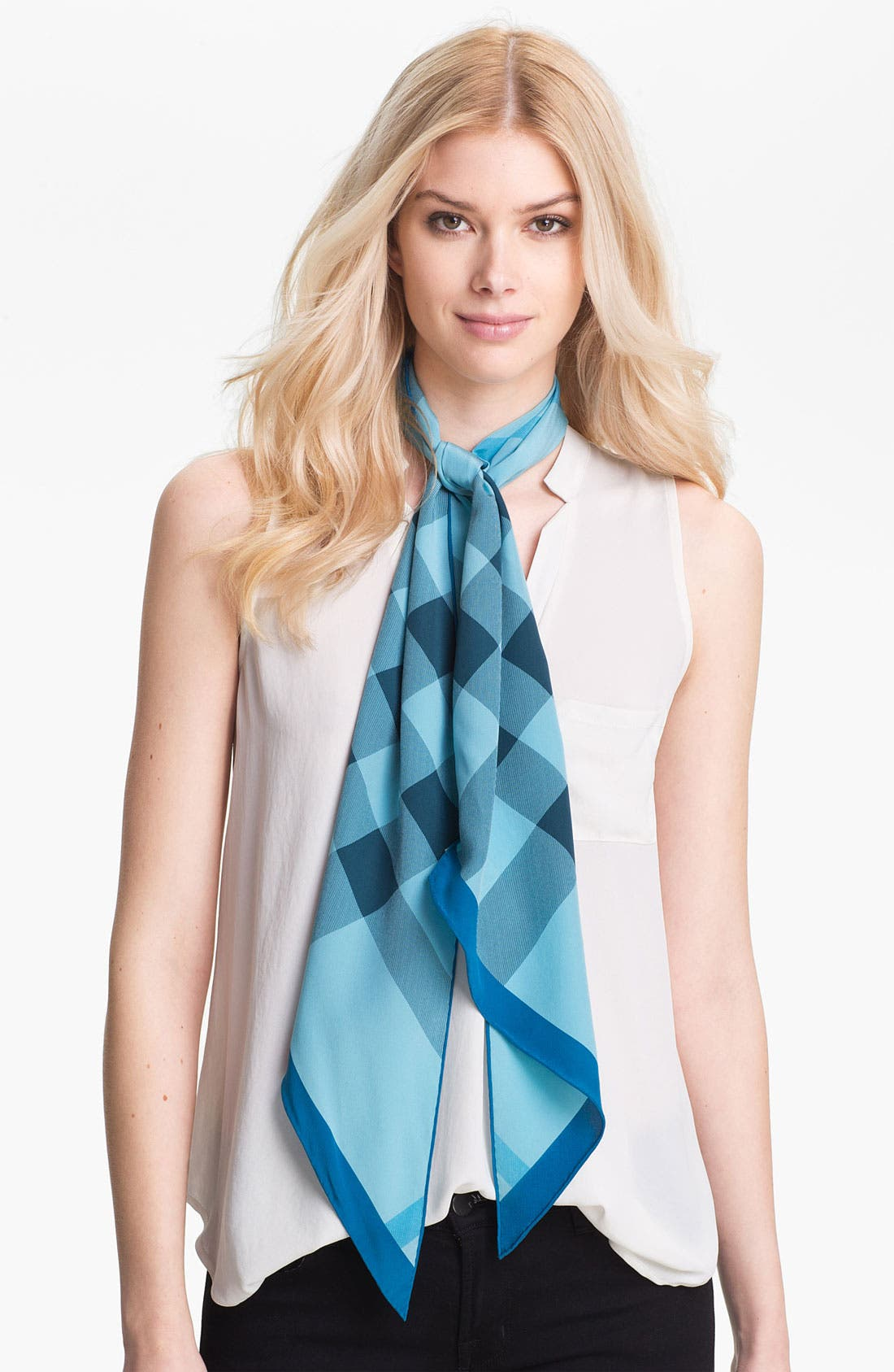 Main Image - Burberry Giant Check Oblong Silk Scarf