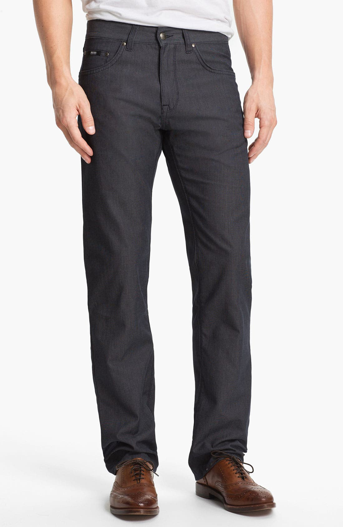 Alternate Image 1 Selected - BOSS HUGO BOSS 'Maine' Straight Leg Five Pocket Pants
