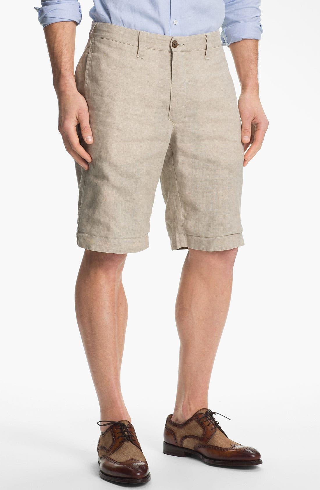 Alternate Image 2  - Tailor Vintage Reversible Linen Shorts