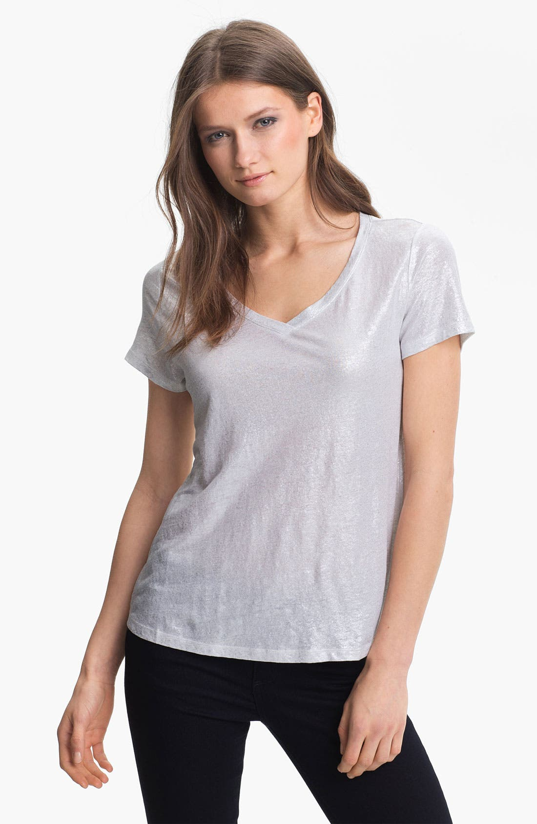Alternate Image 1 Selected - Eileen Fisher V-Neck Easy Tee