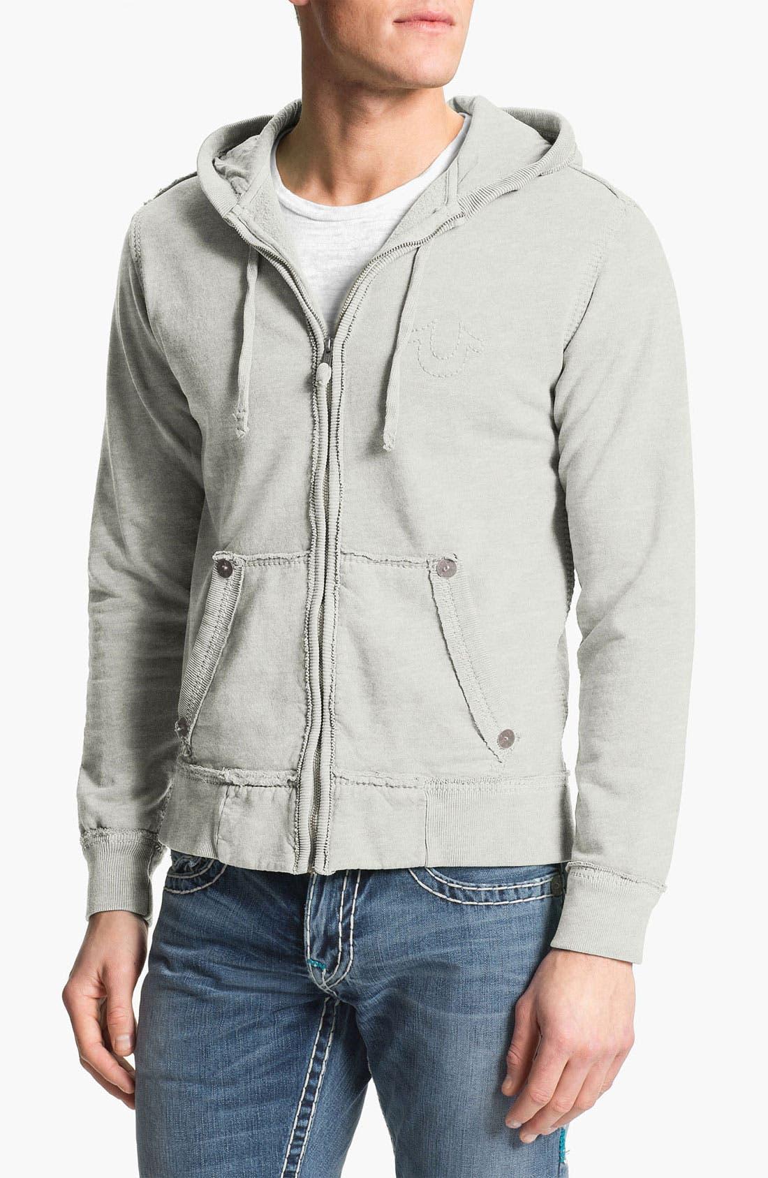 Alternate Image 1 Selected - True Religion Brand Jeans 'Big T' Zip Hoodie