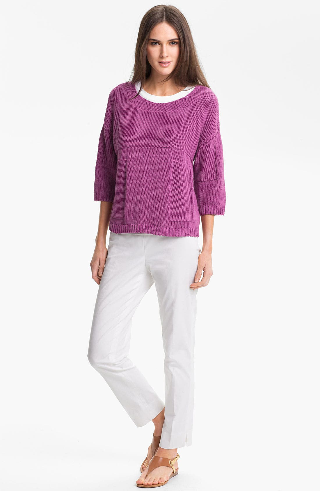 Alternate Image 4  - Lafayette 148 New York 'Essential' Cotton Blend Sweater