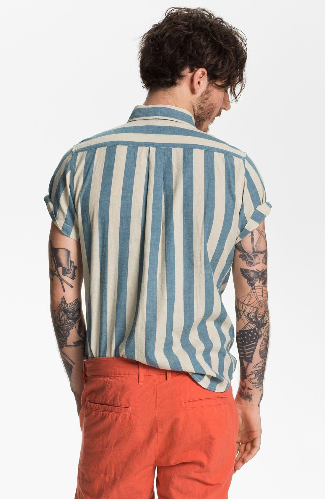 Alternate Image 2  - Obey 'Dreamer' Stripe Woven Shirt