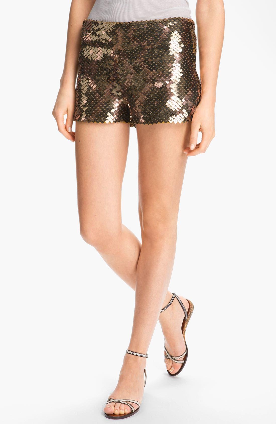 Alternate Image 1 Selected - Haute Hippie Sequin Shorts
