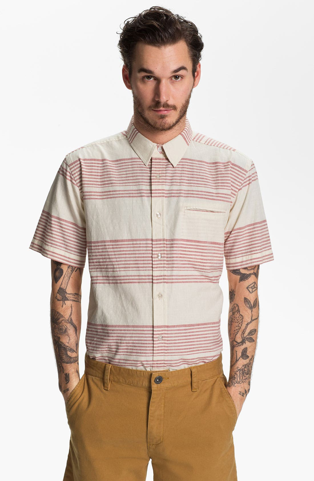 Alternate Image 1 Selected - Ezekiel 'Jed' Stripe Short Sleeve Woven Shirt
