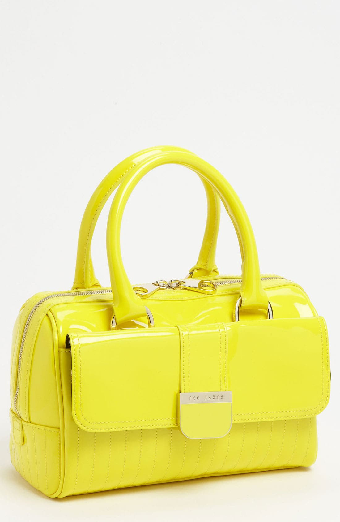 Alternate Image 1 Selected - Ted Baker London 'Enamel - Mini' Quilted Bowler Bag