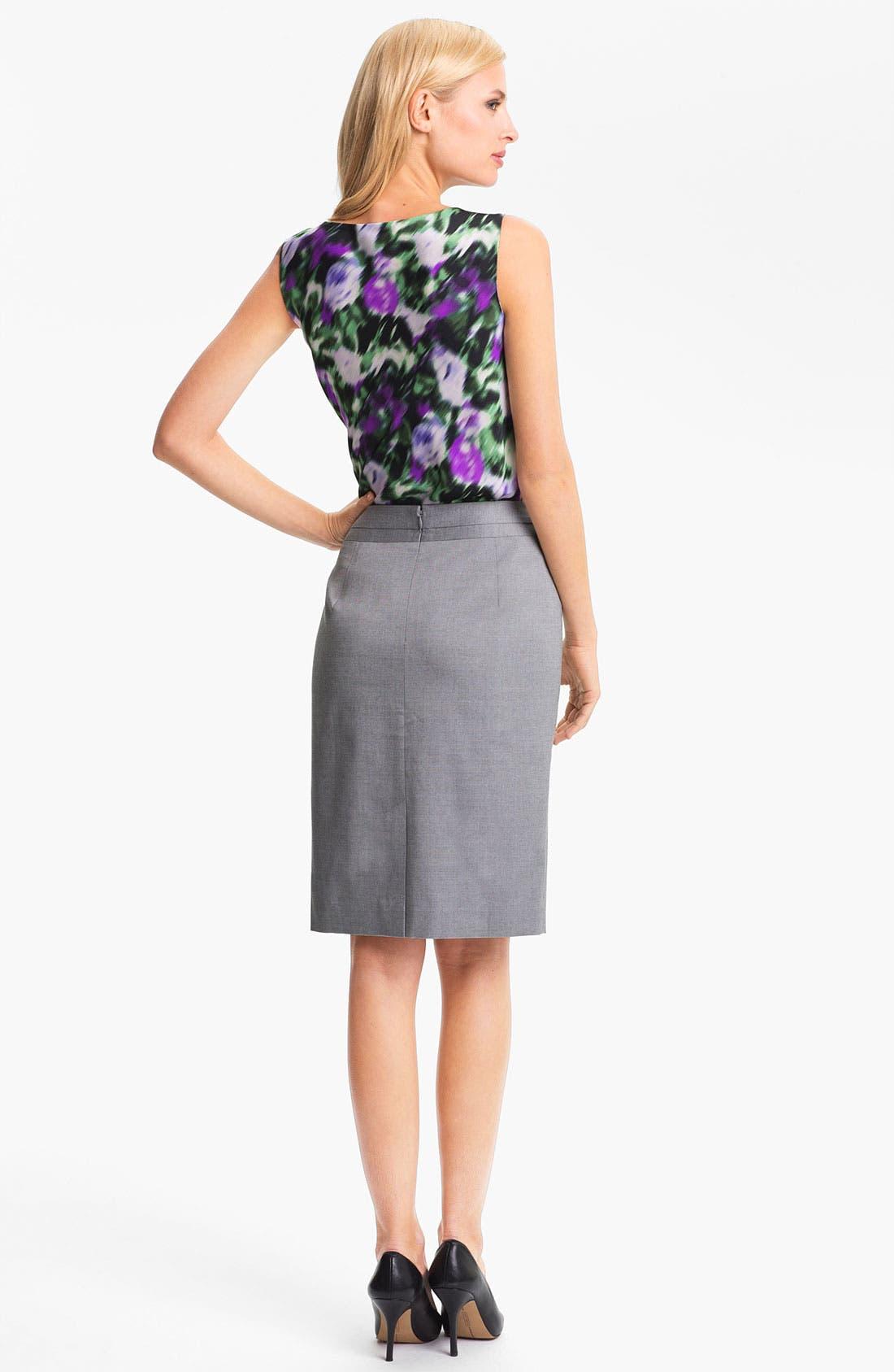 Alternate Image 5  - Classiques Entier 'Platine Weave' Skirt