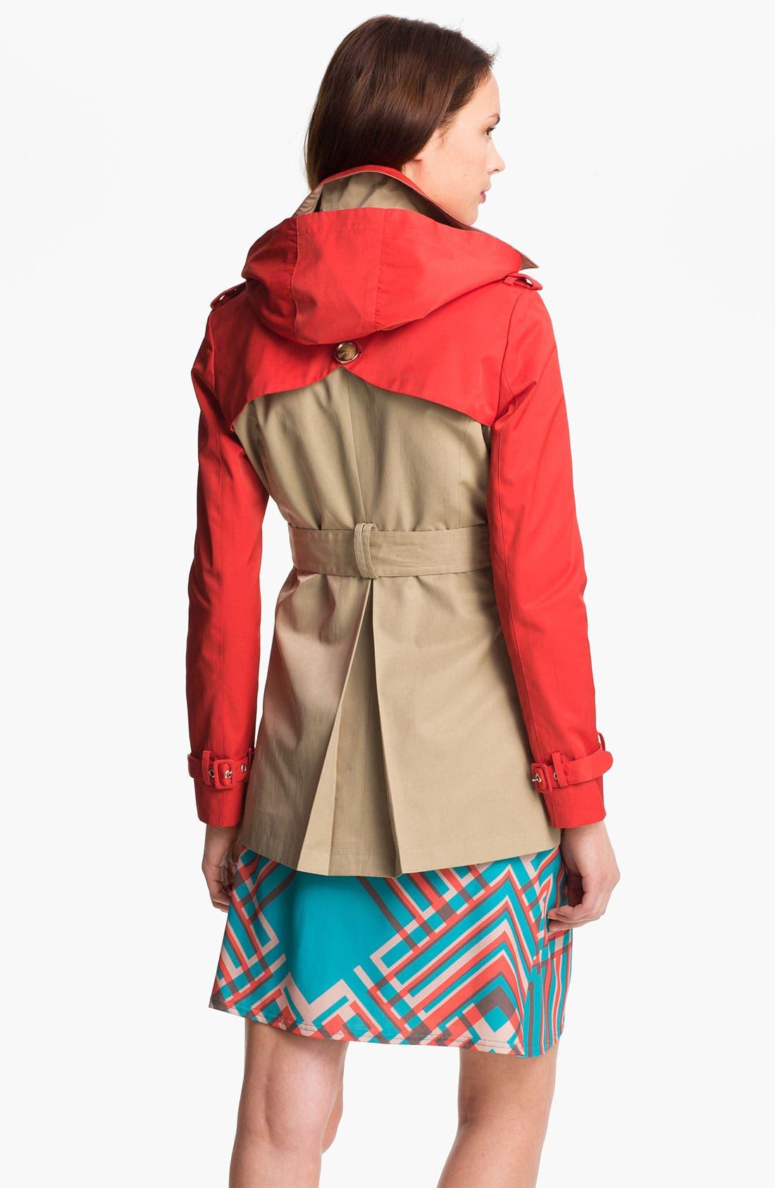 Alternate Image 2  - Steve Madden Colorblock Trench Coat