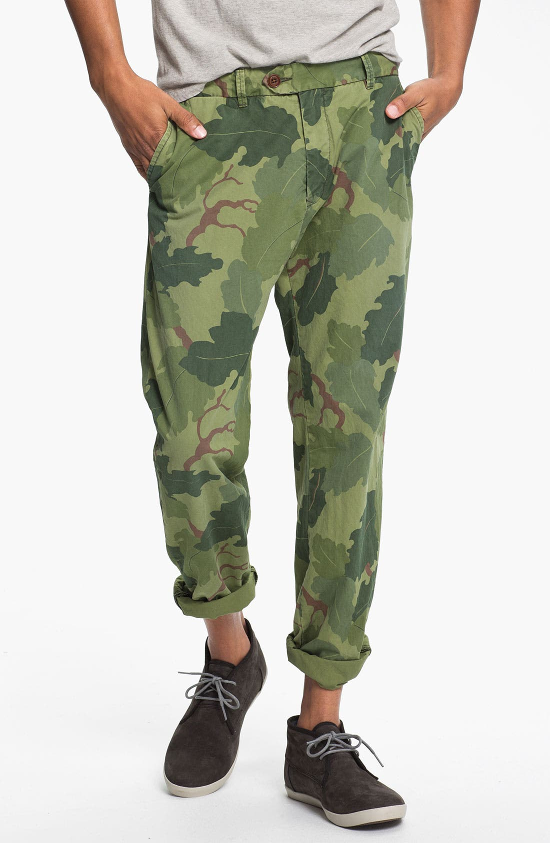 Alternate Image 1 Selected - Scotch & Soda 'Bowie' Camo Print Slim Straight Leg Chinos