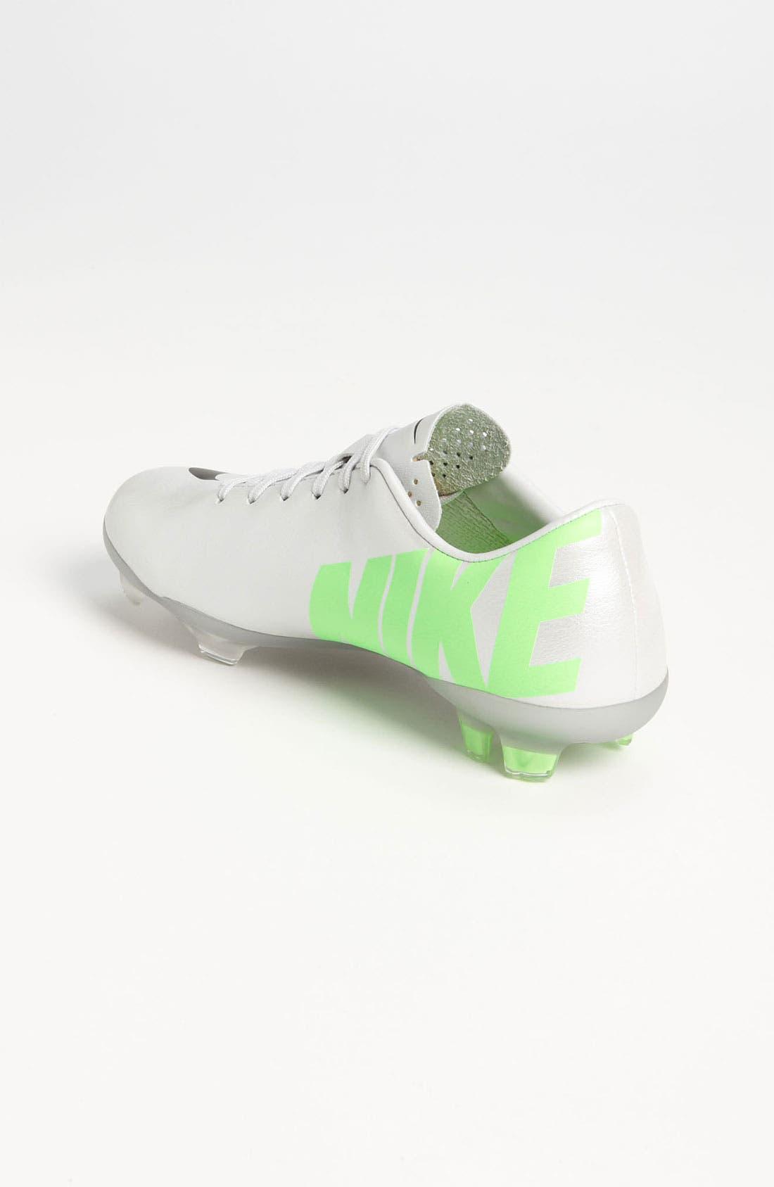 Alternate Image 2  - Nike 'Jr. Mercurial Vapor' Soccer Cleat (Little Kid & Big Kid)
